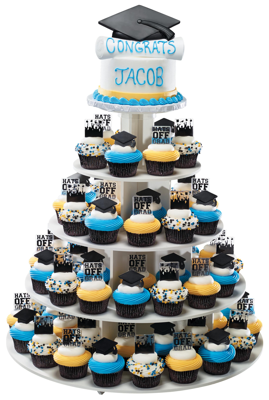 White 5 Tier Cupcake Cake Stand DecoPac