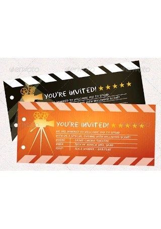 sample raffle movie tickets in psd