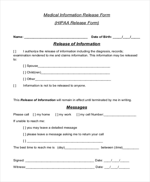 Hipaa Compliant Release Form   Download Our New Free Form Templates, Our  Battle Tested Template Designs Are Proven To Land Interviews.
