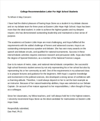 how to write a letter of recommendation for college admissions application Cover Letter Templates