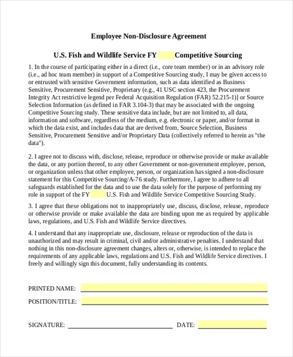 Non Circumvent Agreement Template Non Circumvention