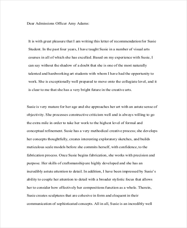 Recommendation Letter For High School Student Image Gallery  Hcpr