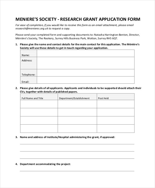 FREE 9+ Sample Grant Application Forms in Sample, Example ...