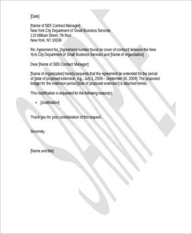 Employee Probation Period Extension Letter Sample