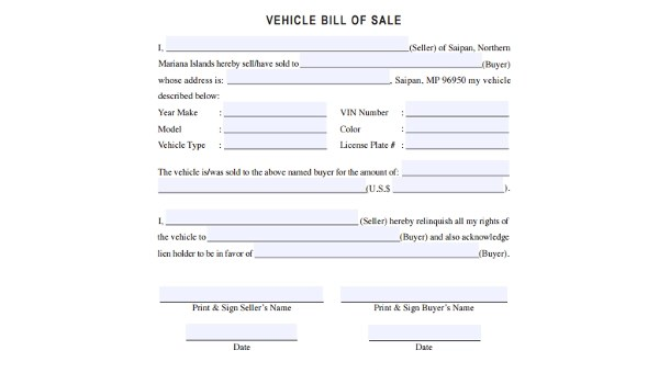 Free 7 Vehicle Bill Of Sale Samples In Pdf