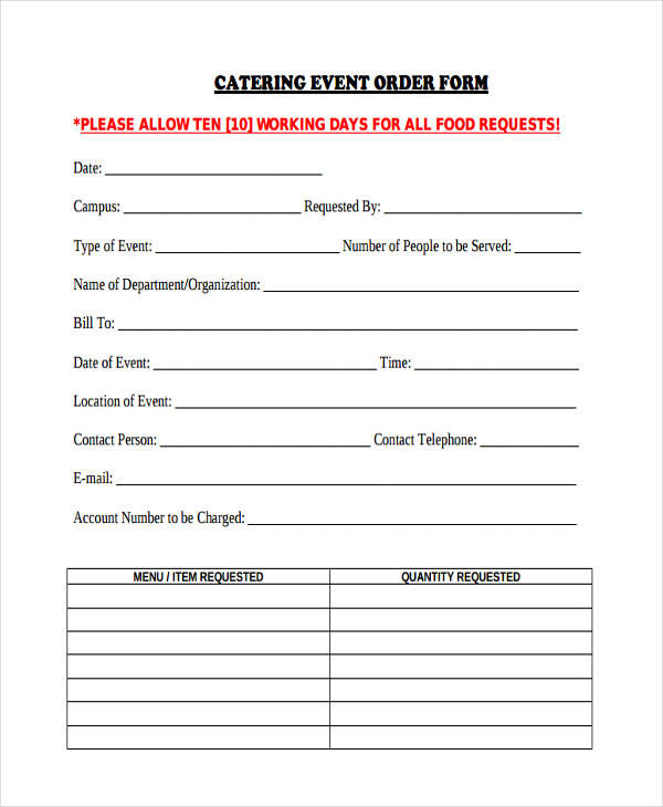 Sample Event Forms 38 Free Documents In Word PDF