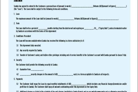 best standard loan agreement blank form personal form » Best Cover ...