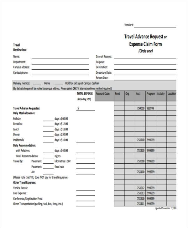 travel claim form mun travelyok co