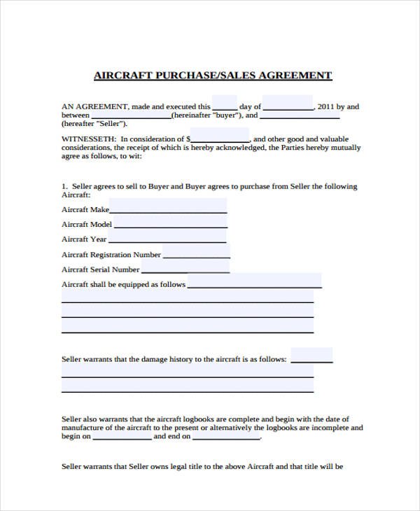Free 32 Sales Agreement Forms In Pdf