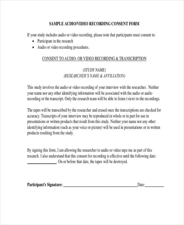 Free 13 Interview Release Forms In Pdf