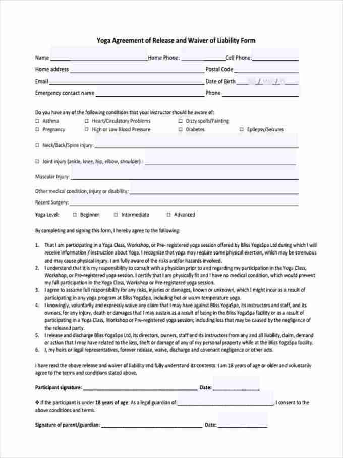 liability waiver form pdf