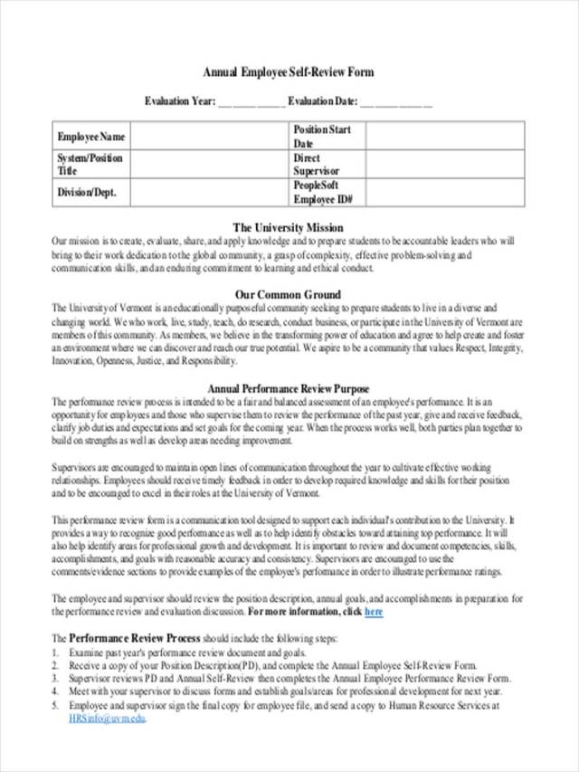 FREE 19+ Employee Review Forms in PDF