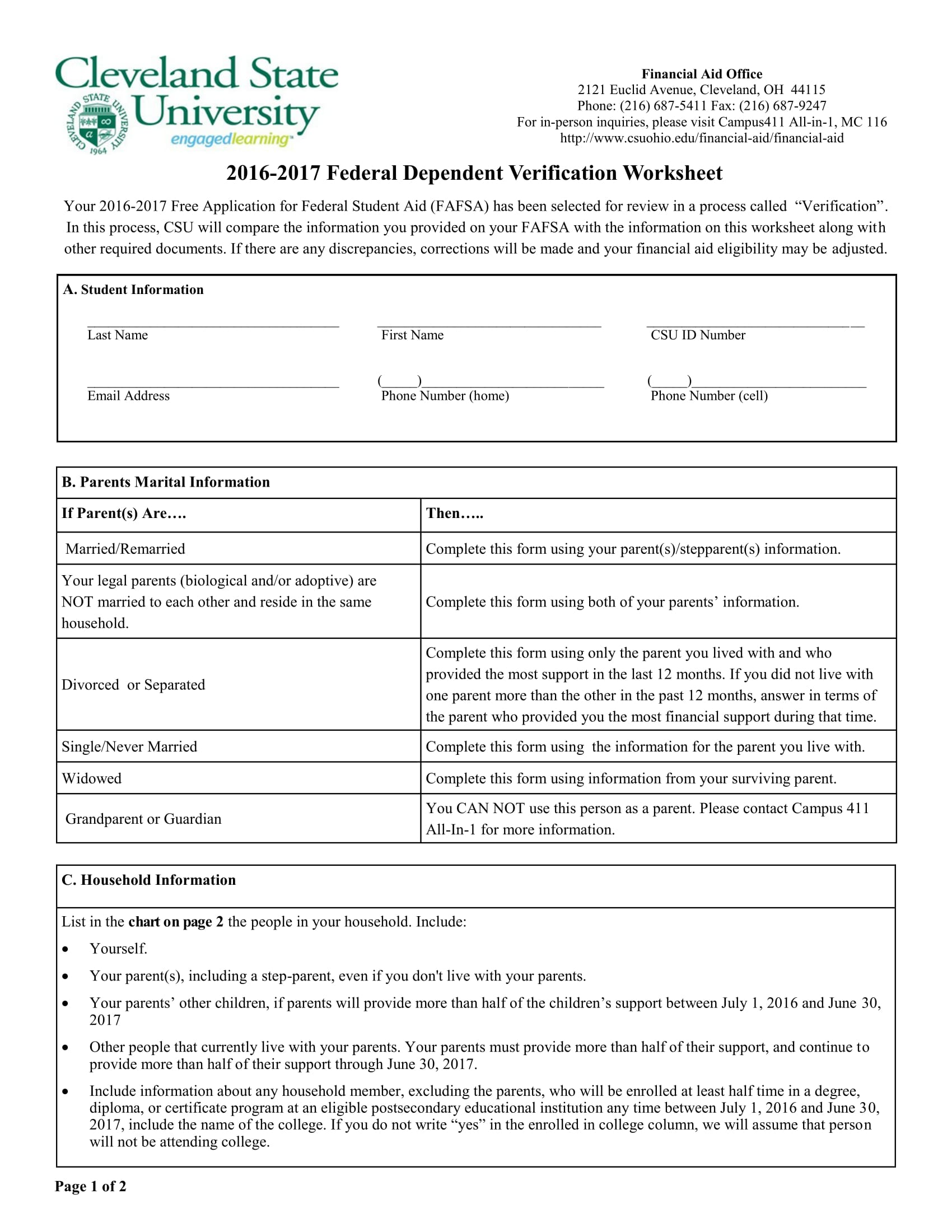 7 Steps In Filling Out A Dependent Verification Form