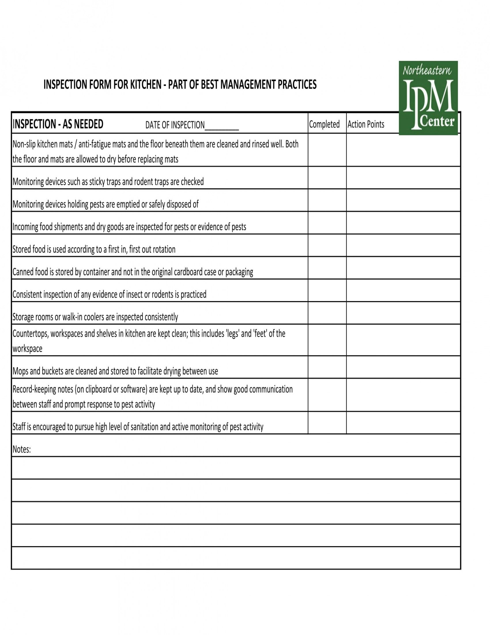 8 Kitchen Management Forms