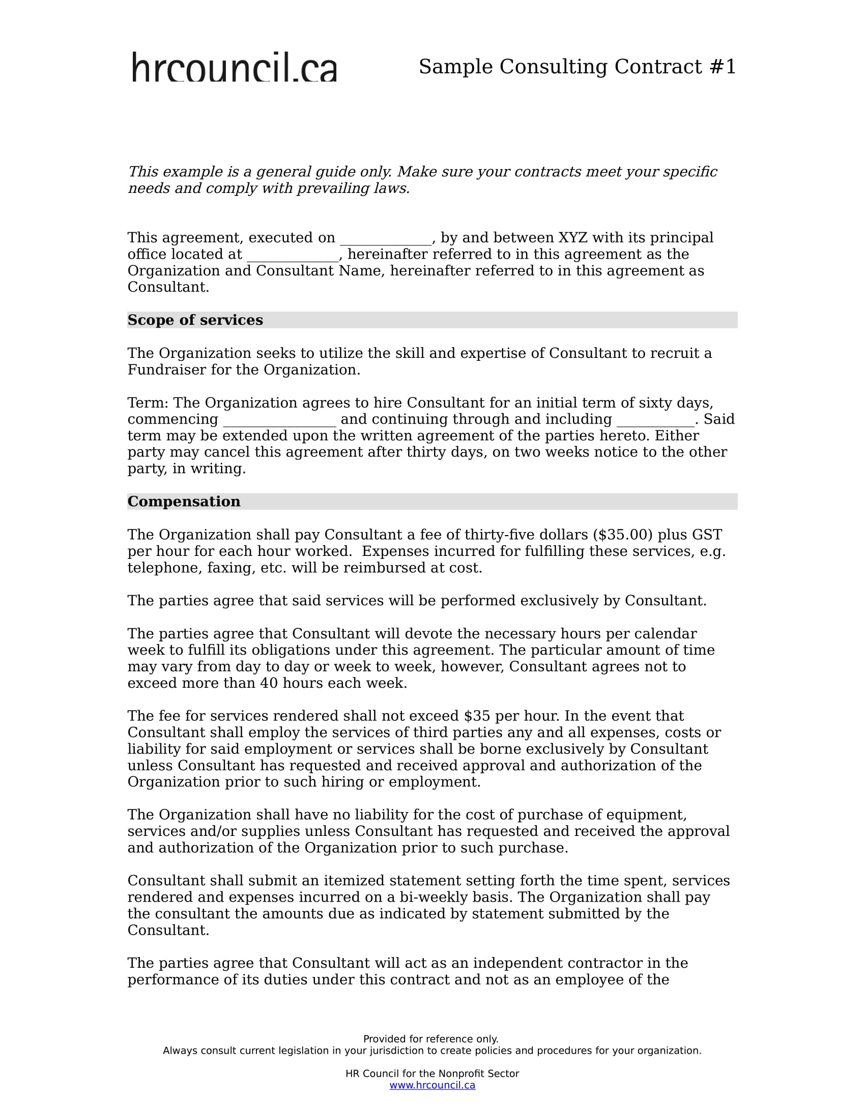 Free 8 Consulting Contract Forms In Pdf Ms Word