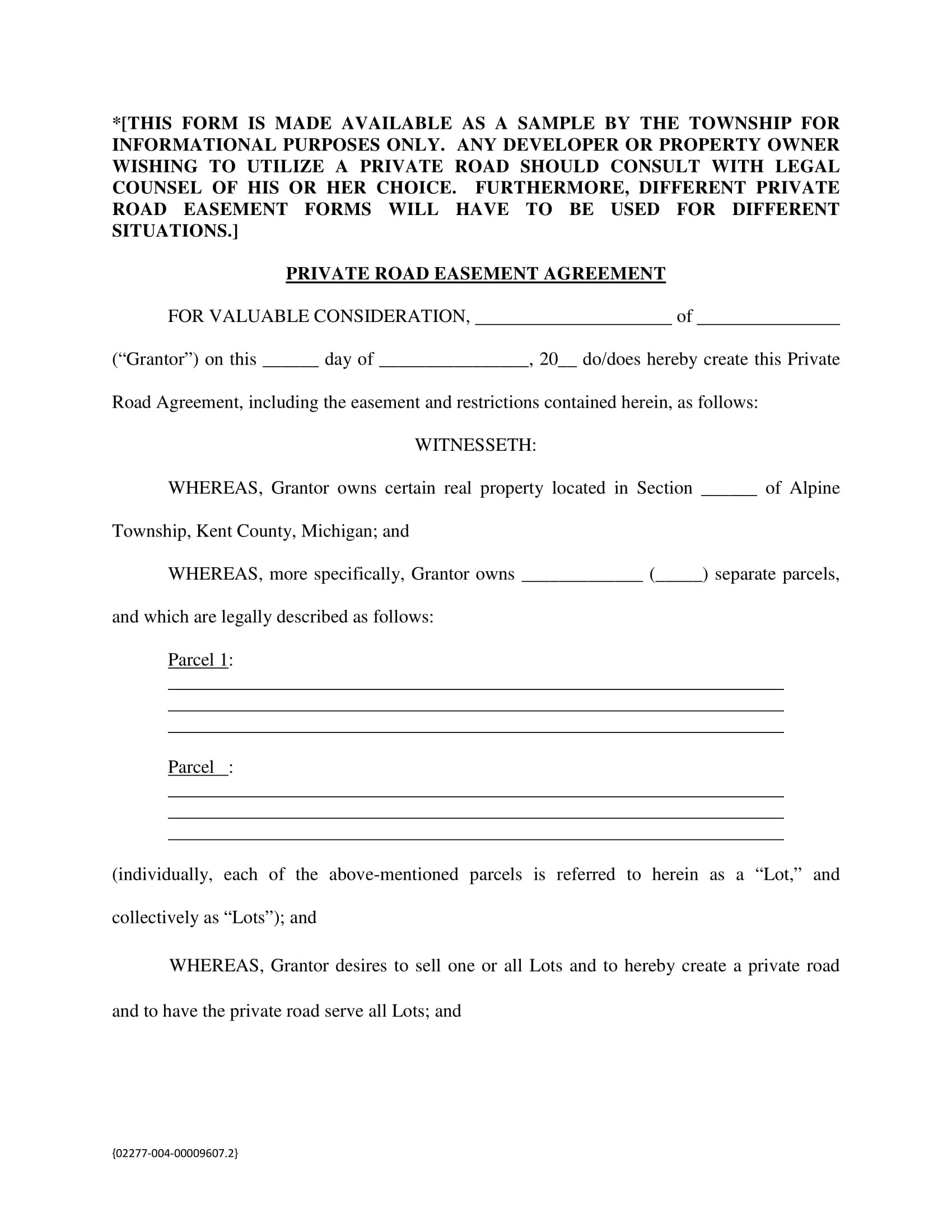 10 Easement Agreement Contract Forms
