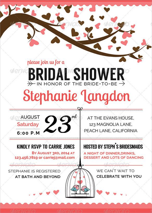 30 Best Bridal Shower Invitation Templates Sample Templates