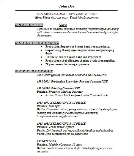 Nurse Resume Examples 2014. Registered Nurse Resume Templates Foto