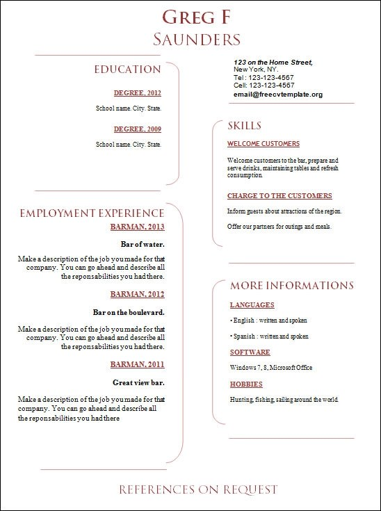 sample creative 18 documents in word