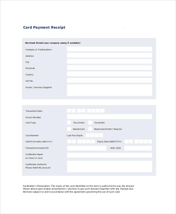 Doc585658 Rent Payment Receipt Sample Rental Receipt Template – Rent Payment Receipt Sample