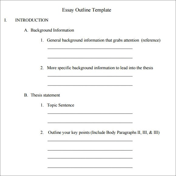 College essay format template