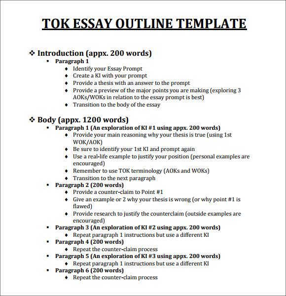 Tok Essay Templates - image 11