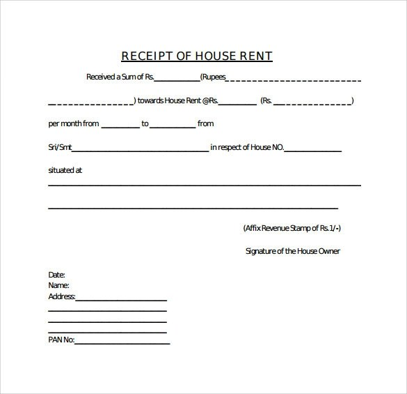 Doc.#12751650: House Rent Receipt Format Doc – Doc12751650 Rental ...