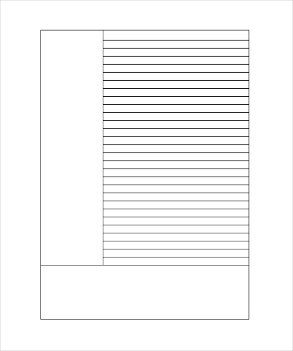 Printable Lined Paper Template lined paper template 12 download – Ruled Paper Printable