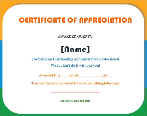 Merit Award Template certificate of appreciation template 13 – Merit Certificate Comments