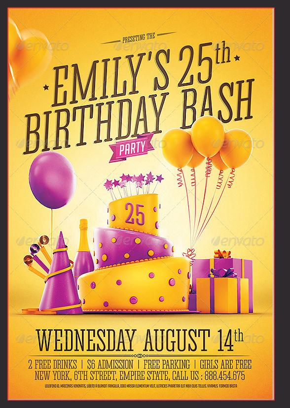 Simple Birthday Invitation Templates