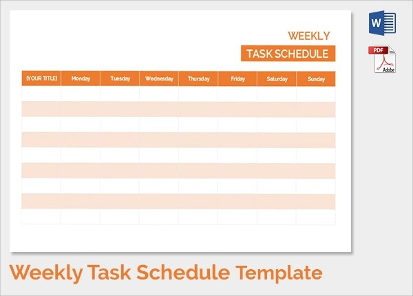 35 Sample Weekly Schedule Templates Sample Templates
