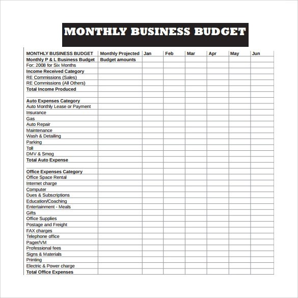 Corporate Budget Template. zero based budget spreadsheet with ...