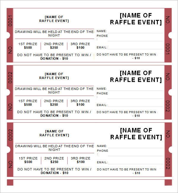 sample of raffle ticket