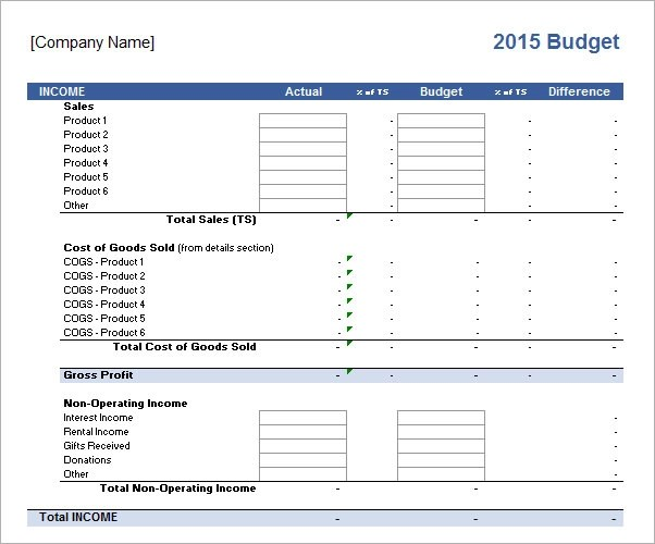 Business Budget Template Free sample business budget 9 documents – Small Business Budget Template