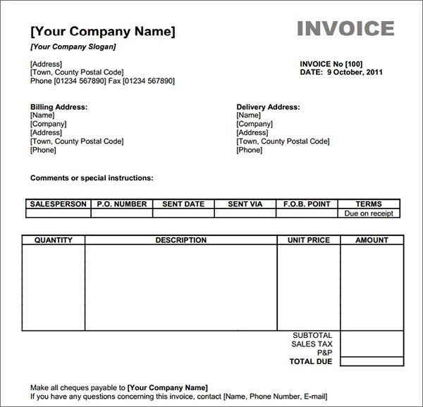 Recepit Template this free cash helps you create cash for – How to Make a Receipt in Word