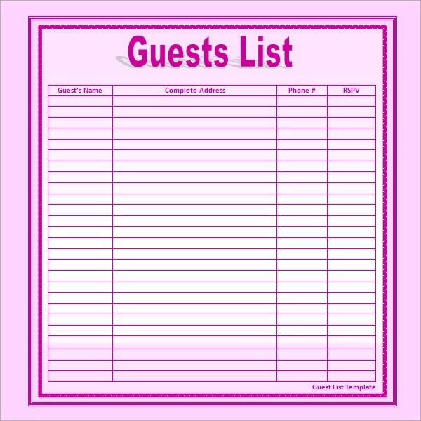 Wedding Gift List Tracker