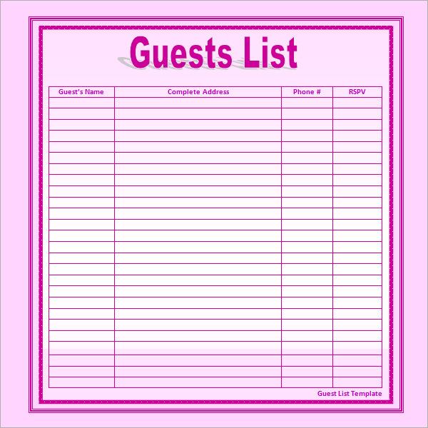 Wedding Gift List Tracker : Wedding Gift List Tracker