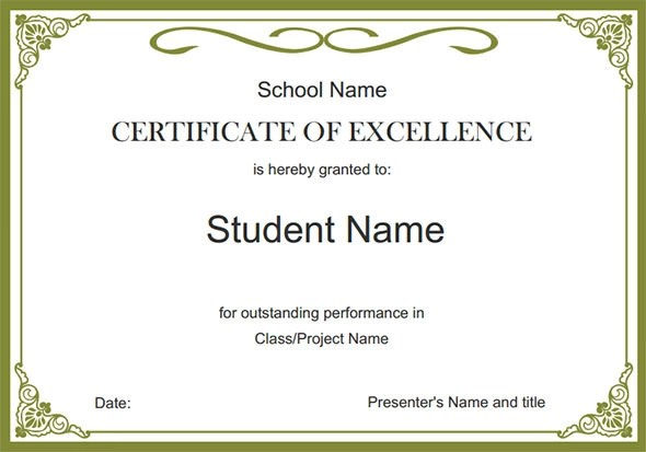 Certificate template award cirtificates all form templates image result for certificate template images yadclub Gallery