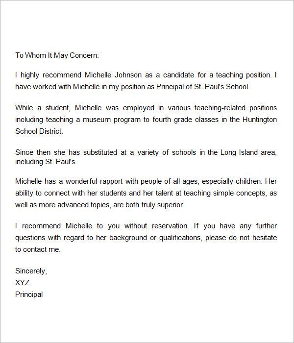 Sample recommendation letter for scholarships from teacher | Buy ...