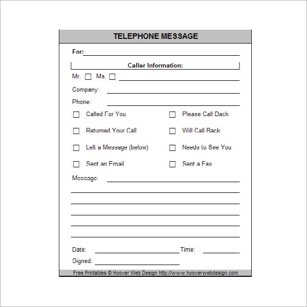 Telephone Messages Template Message Template Download Free Forms Amp Samples For Pdf Word Excel Phone Message Templates Free Download For Word Excel Pdf 5 Plus Call Log Templates To Keep Track Your