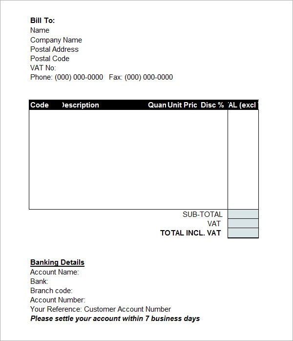 Google Receipt Template sample invoice template word simple – Simple Receipt Template Word