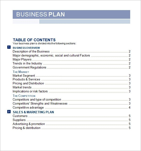 How to Write a Basic Business Plan with Sample Business.