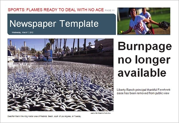42  Amazing Newspaper Templates   Sample Templates Free Printable Newspaper Template