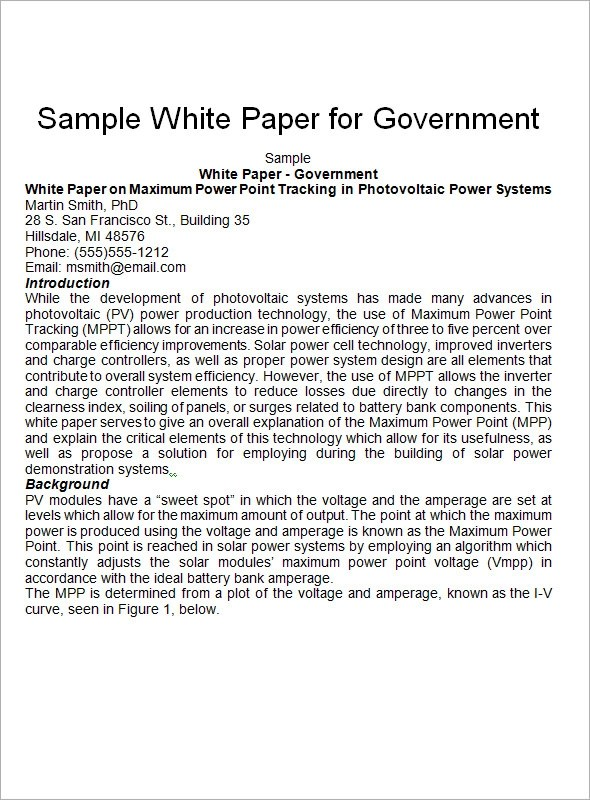 Template White Paper white paper template word youtube sample – Microsoft White Paper Template