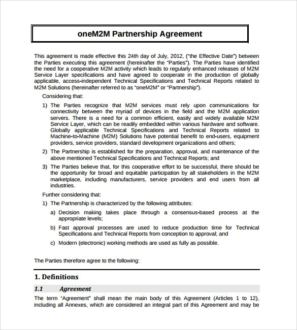 Simple Investment Agreement Template sample partnership agreement – Simple Investment Agreement