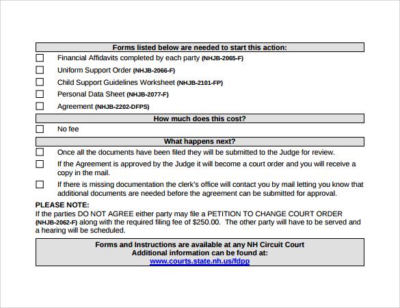 sample child support agreement letter philippines docoments ojazlink. Resume Example. Resume CV Cover Letter