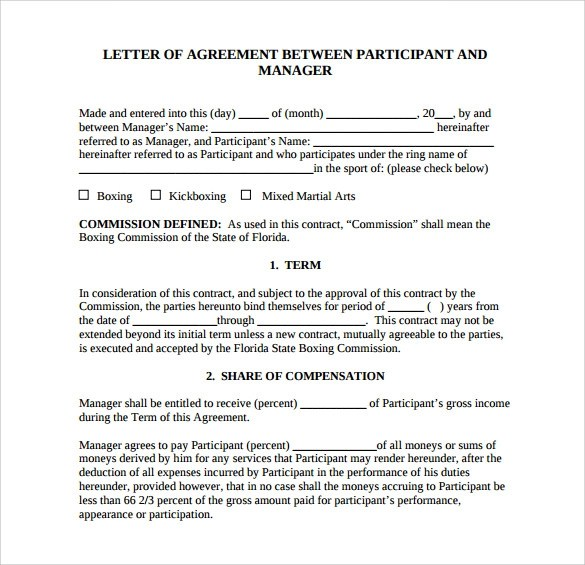 Free 16 Letter Of Agreement Templates In Pdf Doc