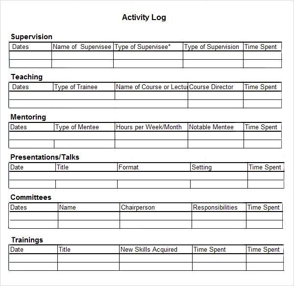 call log template for excel