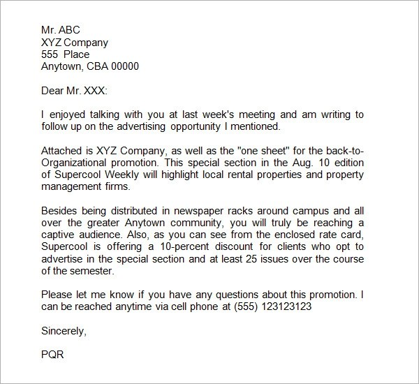 The bidrfp proposal cover letter