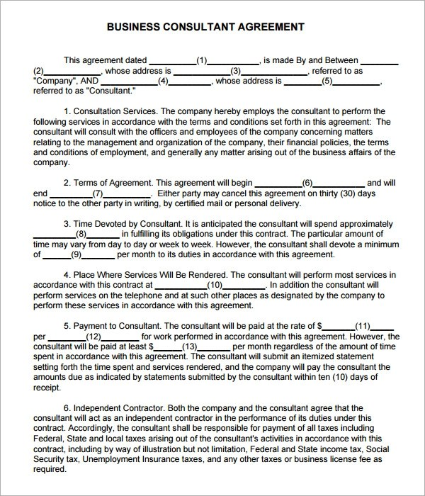Free 15 Sample Consulting Agreement Templates In Google